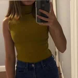 Forever 21 Turtle Neck Sleeveless Top